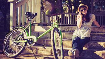 Pasear con bicicleta por Terrassa